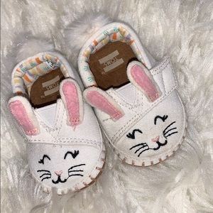 Toms baby bunny shoes.